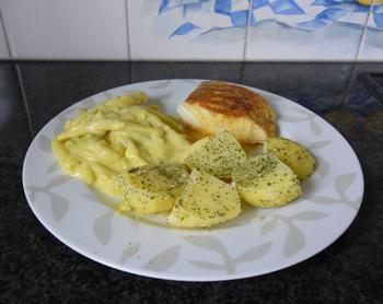 Skrei of kabeljauw met boterboontjes en zure eiersaus 7
