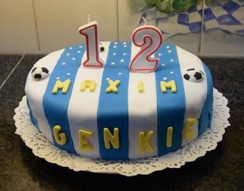 Verjaardagstaart 12 jaar: van biscuit, boterroom en suikerglazuur 9