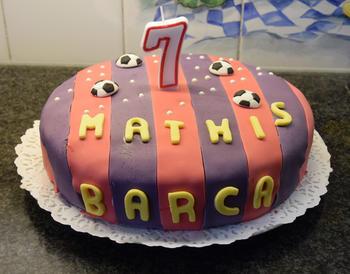 Verjaardagstaart 7 jaar: van biscuit, boterroom en suikerglazuur 8
