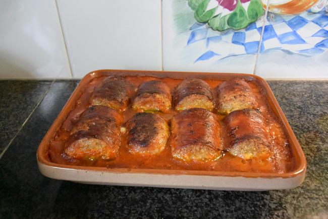 Italiaans vleesrolletjes in tomatensaus of braciola 1