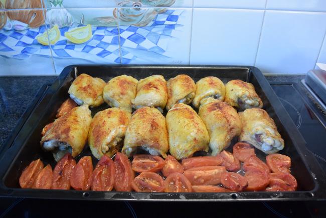 Kippendijen en groentjes uit de oven 1