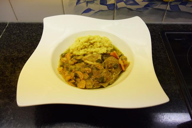 Osso bucco Milanese of kalfsschenkel met risotto 1