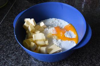 Amandel-appeltaart met kruimeldeeg 2