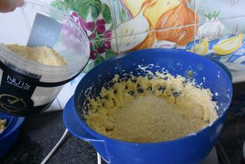 Amandel-appeltaart met kruimeldeeg 6