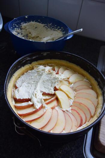 Amandel-appeltaart met kruimeldeeg 9