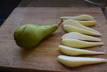 Frangipanetaart met peren 2