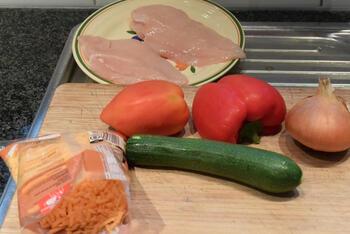 Gevulde kipfilet met groentjes in de oven 4
