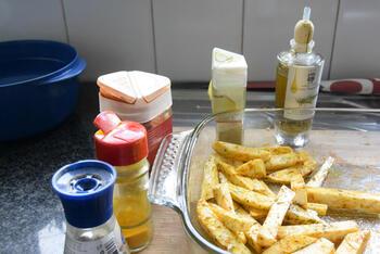 Knolselder en aardappelen uit de oven. 3