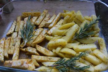 Knolselder en aardappelen uit de oven. 5
