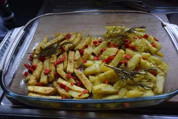 Knolselder en aardappelen uit de oven. 6
