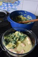 Ovenschotel met zalm en spinaziestamppot 9