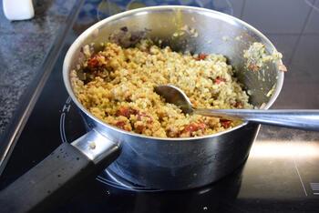 Paprika gevuld met bulgur en gehakt 7