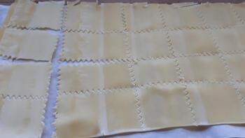 Pasta in kaasbouillon en spiegelei 3
