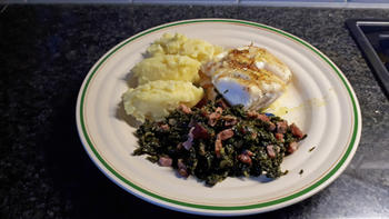 Skrei of kabeljauw en boerenkool met spekjes 6