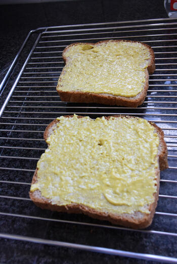 Toast met rul gebakken gehakt 2