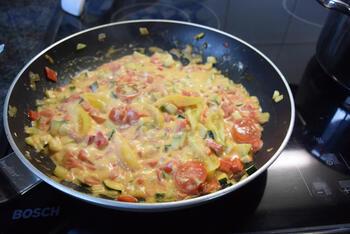 Vegetarische macaroni met groentjes en kaas 5