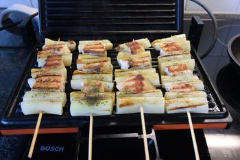 Zalm-asperges spies in de grillpan of op de barbecue 5