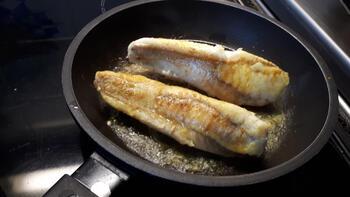 Zeeduivel of andere vis met spinazie in bechamelsaus 2