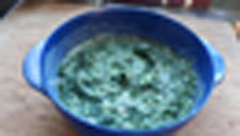 Zeeduivel of andere vis met spinazie in bechamelsaus 4