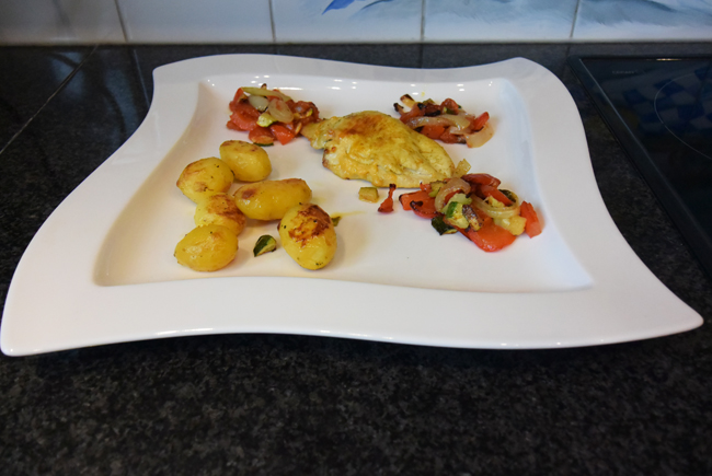 Gevulde kipfilet met groentjes in de oven 1
