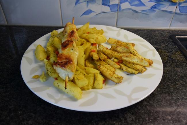 Knolselder en aardappelen uit de oven. 1