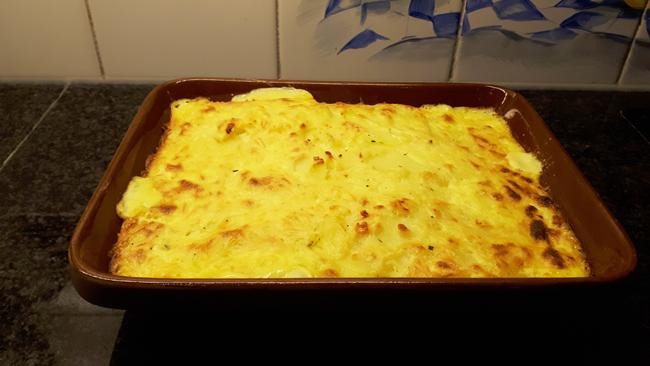 Ovenschotel met prei, erwten, pladijsfilet en aardappel 1