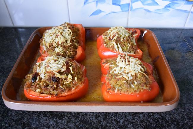 Paprika gevuld met bulgur en gehakt 1