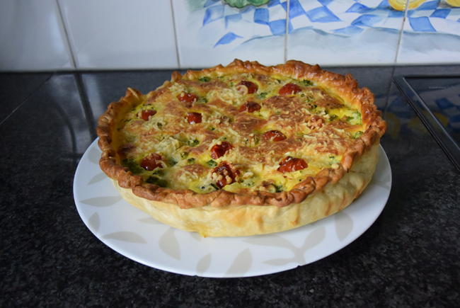 Quiche met broccoli en spekjes of ham 1