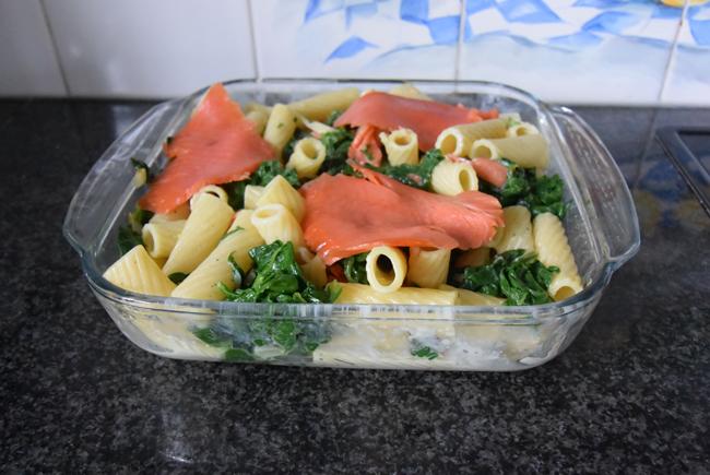 Tortiglioni met spinazie en gerookte zalm 1