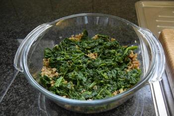 Gehaktschotel met spinazie en knolselderpuree 3