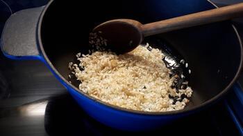 Krokante kipfilet met eenvoudige risotto 2