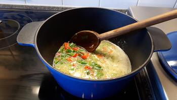 Krokante kipfilet met eenvoudige risotto 3