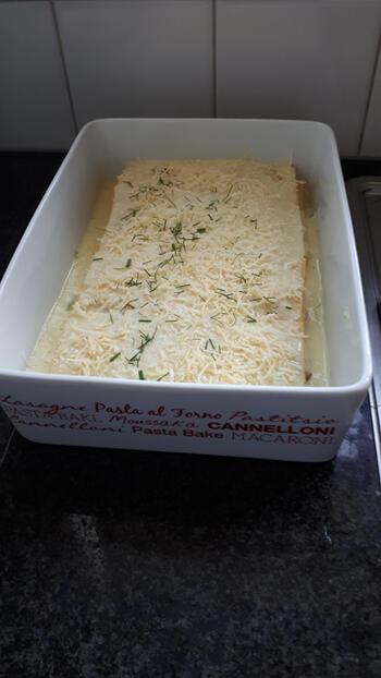 Lasagne met zalm, venkel en kaassaus 9