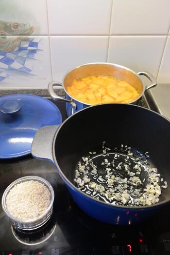 Risotto met pompoen, kerstomaatjes en ham 3