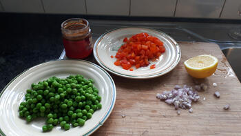 Rode curry met scampi 3