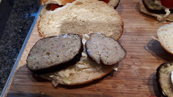 Sandwiches met gehaktbrood, witloof en tomaatjes 2