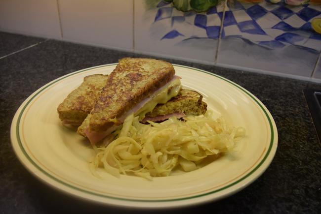 Hartige wentelteefjes met kaas en ham 1