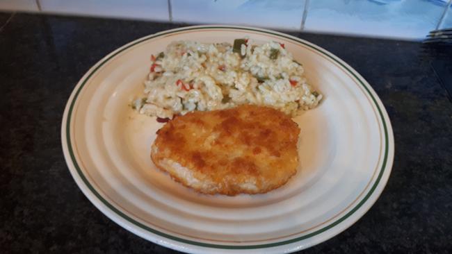 Krokante kipfilet met eenvoudige risotto 1
