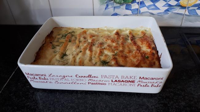 Lasagne met zalm, venkel en kaassaus 1