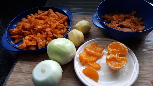 Thermomixrecept: Wortelsoep met sinaasappel 1